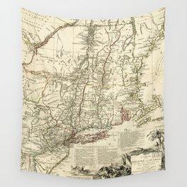 American Revolutionary War Map (1782) Wall Tapestry