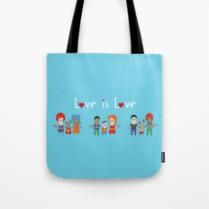 Love is Love Blue - We Are All Equal Tote Bag
