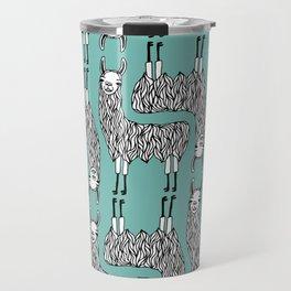 Llama Pattern Travel Mug