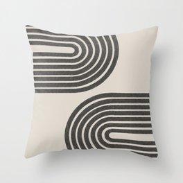Woodblok Rainbow Art Throw Pillow