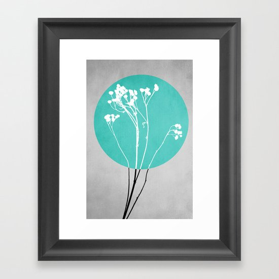 Abstract Flowers 1 Framed Art Print