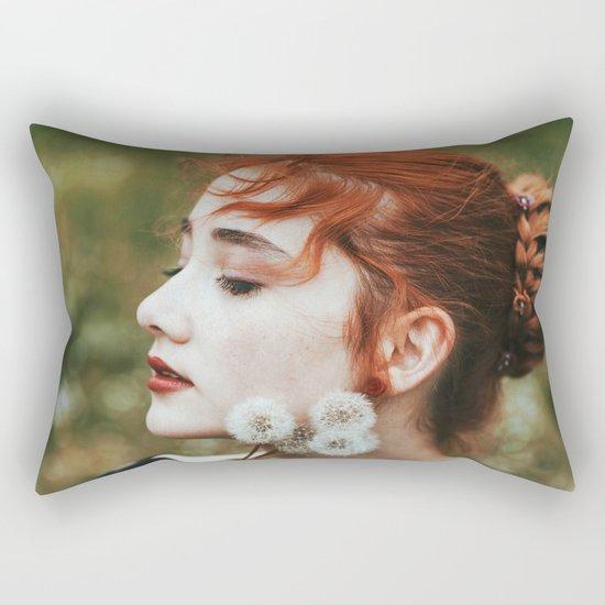 Dandelion girl Rectangular Pillow