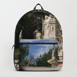 Garden Fountain Villa Vizcaya Backpack