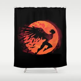 Icarus: Sunset Shower Curtain