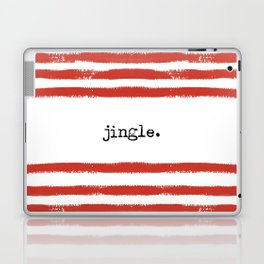 red stripes-jingle Laptop & iPad Skin