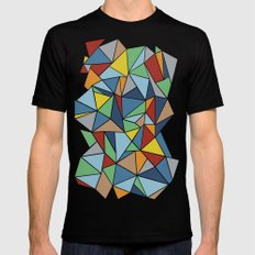Abstraction Outline Mens Fitted Tee Black MEDIUM
