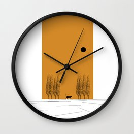 Lost Cat Wall Clock