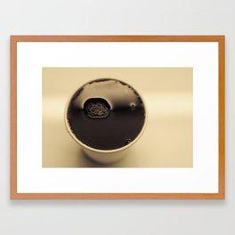 high tea in a paper cup Framed Art Print