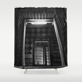 Looking Up - Barcelona Stairwell, Spain Shower Curtain