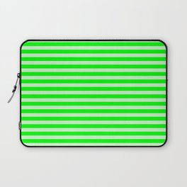Striped 2 Neon Green Laptop Sleeve