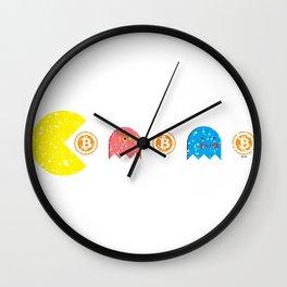 Bitcoin Man Wall Clock