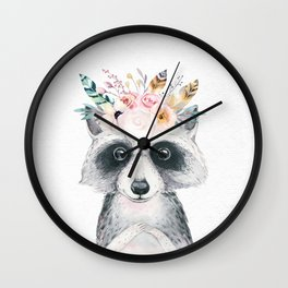Forest Raccoon by Nature Magick Wall Clock