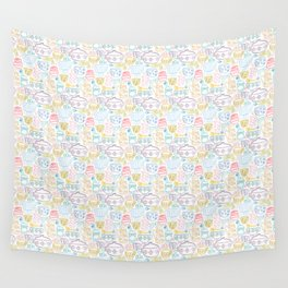 Vintage Dishes in Rainbow Wall Tapestry