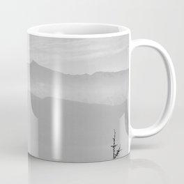 Rainbow clouds at the mountains at sunrise. BW Coffee Mug