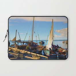 Dhow Boats Stone Town Port Zanzibar Laptop Sleeve