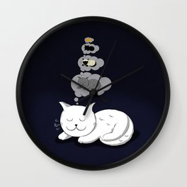A cat dreaming of a cat that dreams of dreaming of a cat that dreams of dreaming of a cat. Wall Clock
