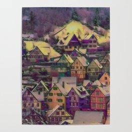 Rustic winter scene A Poster