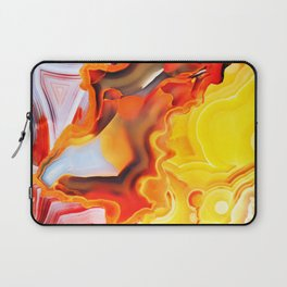 Earth's Fantasy, from the Lithosphere emerges Beauty - Agate Laptop Sleeve