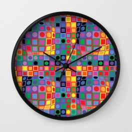 Homage to Vasarely Wall Clock