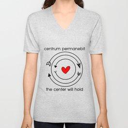 Centrum permanebit | The center will hold Unisex V-Neck