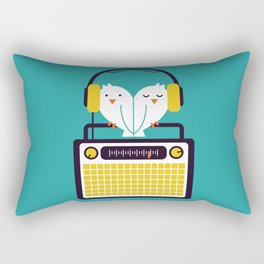 Radio Mode Love Rectangular Pillow
