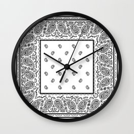 Classic White Bandana Wall Clock