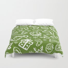 XMAS Green Pattern / Part Two Duvet Cover