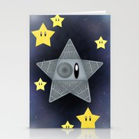death star Stationery Cards featuring Death Star by Verreaux