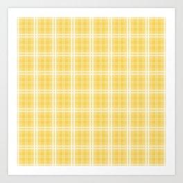 Spring 2017 Designer Color Primrose Yellow Tartan Plaid Check Art Print