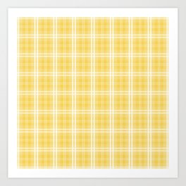 Spring 2017 Designer Color Primrose Yellow Tartan Plaid Check Art Print
