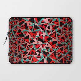 Pieces of colorful broken glass print Laptop Sleeve