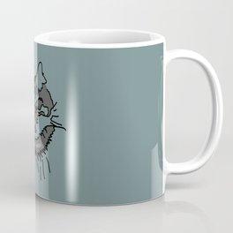 Turquoise Sleeping Cat Coffee Mug