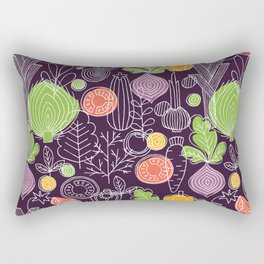 Vegetable Pattern Scandinavian Design Rectangular Pillow
