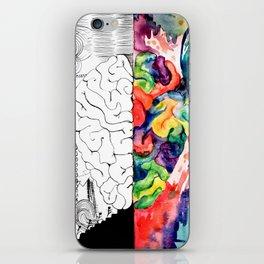 Right Left Brain iPhone Skin