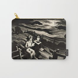Classical Masterpiece 'Letter from Overseas' by Thomas Hart Benton Carry-All Pouch