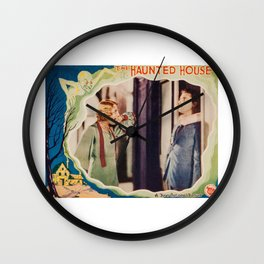 The Haunted House, vintage horror movie poster 1928 Wall Clock