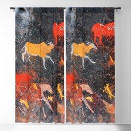 Cave Art Lascaux Deer Hunt Blackout Curtain