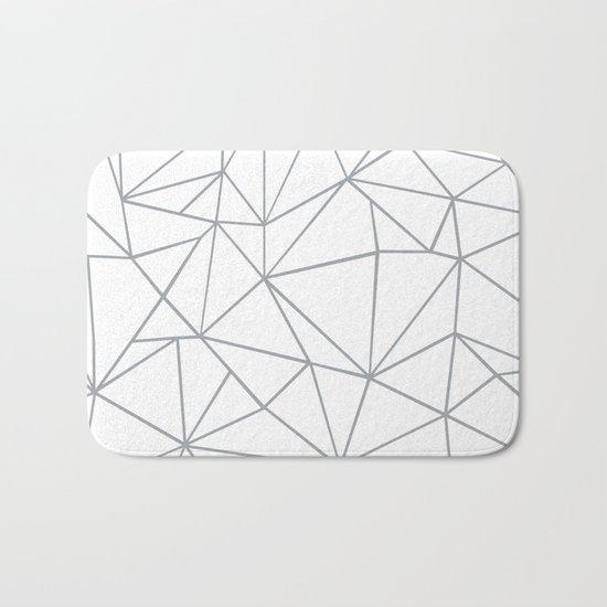 Ab Outline 2 Grey on White Bath Mat
