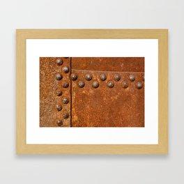 Rusty metal wall surface Framed Art Print