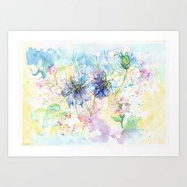 Love In A Mist Art Print