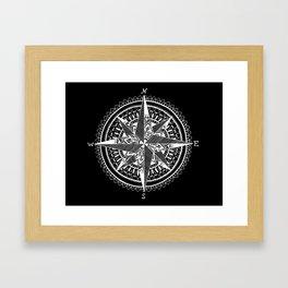 white compass Framed Art Print