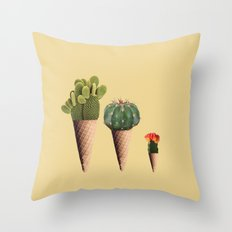 3 Cactus Throw Pillow