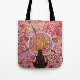 Sunset Nature Mandala Tote Bag