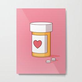 Happy Pills. Metal Print