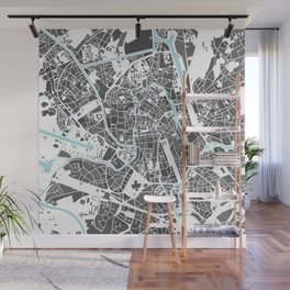 Ghent City Map I Wall Mural