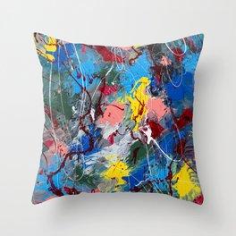 Life In Technicolour Throw Pillow