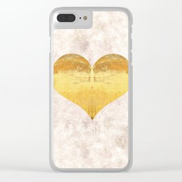Heart felt - Midas Touch Clear iPhone Case