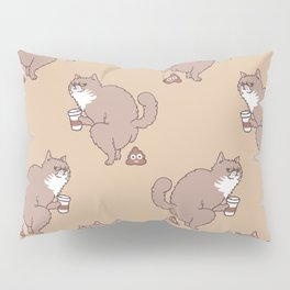 Coffee Makes Cat Poop Pillow Sham