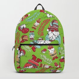 Winter Gnome - Green Backpack
