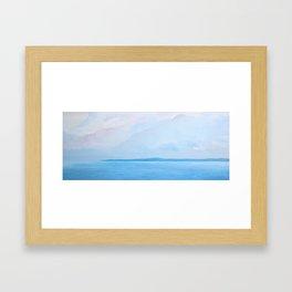 Soft Pink Seascape   Landscape Framed Art Print
